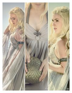 Amazing dress. She'd be a perfect fit for Cersei Lannister, too.