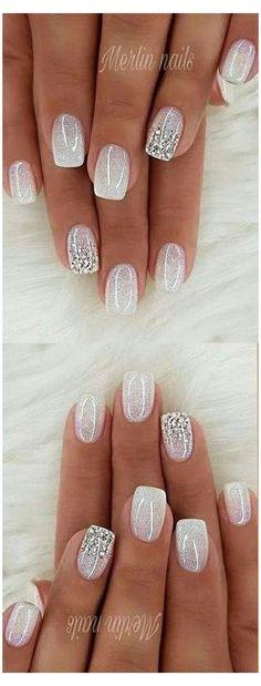 Cute Acrylic Nails, Acrylic Nail Designs, Cute Nails, Pretty Nails, Nail Art Designs, My Nails, Glitter Nail Designs, Fancy Nails Designs, Classy Nail Designs