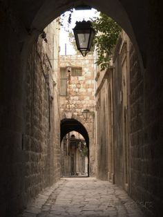 Arched Streets of Old Town Al-Jdeida, Aleppo (Haleb), Syria, Middle East Photographic Print by Christian Kober - AllPosters.co.uk