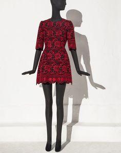 ABITO TRAPEZIO BROCCATO INTAGLIATO - Vestiti corti - Dolce&Gabbana - Estate 2015