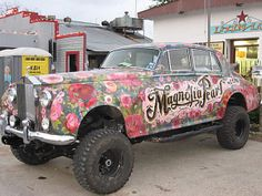 1958 Rolls Royce Silver Cloud 4x4 Hippie Glam Art Car Magnolia Pearl by Rrobin Brown