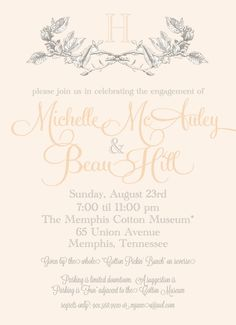 Engagement Party Invitation with #magnoliatheme