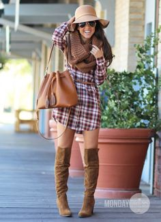 Plaid To Meet You Dress in Red
