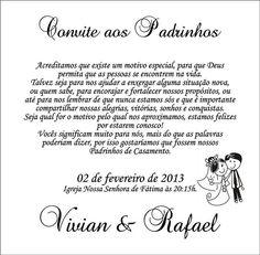 18 Convites Especiais para Padrinhos continue vendo...