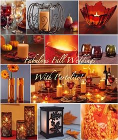 Fall Color Wedding Centerpieces   Indian Proposal: Wedding Planning, Tips and Ideas: Stylish Indian ...