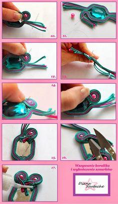 Biżuteria DianaSoutache / DianaSoutache Jewellery: tutorial na bransoletke sutasz :) KURS KROK PO KROKU