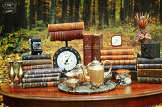 Autumn vintage setup