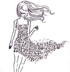 Image about girl in ? by nervozno pile on We Heart It Music Drawings, Music Artwork, Art Drawings, Musik Wallpaper, Music Notes Art, Music Doodle, Note Tattoo, Music Pictures, Music Tattoos