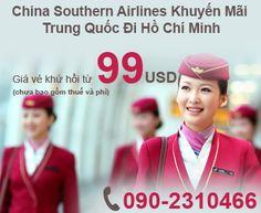 China Southern Airlines Khuyến Mãi Trung Quốc Đi Hồ Chí Minh Vé Khứ Hồi Từ 99USD