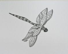 Original+Art+Ink+Drawing+Dragonfly+Art+Black+by+maryrichmonddesign,+$28.00