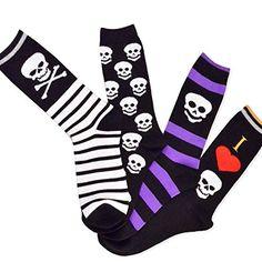 Halloween Socks - I Love Skull 4-pair Pack Women's Crew Socks Soxnet http://www.amazon.com/dp/B00NUHNM0A/ref=cm_sw_r_pi_dp_g15gvb07S0NM4