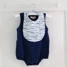 *NEW* Charlie Bib // Waves | Hemming Birds Toddler Bibs, Baby Bibs, Kam Snaps, Diaper Clutch, Clear Plastic Bags, Wet Bag, Nautical Baby, Fantastic Baby, Fabric Bows
