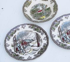 3 Vintage English Transfer Ware Plates  $20.00