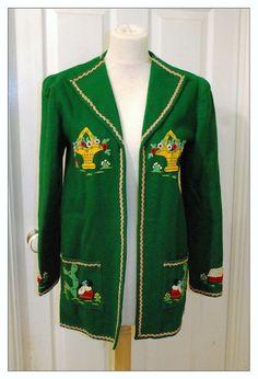 50's 60's Green Mexican Souvenir Tourist Jacket by lilrockingal, £55.00