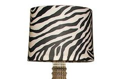 Lamp Shade Covers Easy Way To Add A Pattern Change The Look Of Your Lamps Black Zebra Lamp Shade Shade Cover Lamp