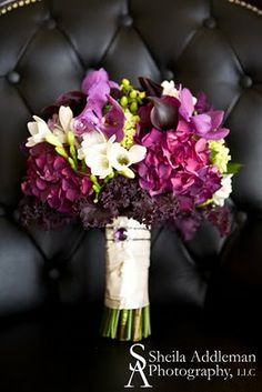Plum - Eggplant: A Very Popular Color for 2011 Wedding Couples | Flora Nova Design - The Blog