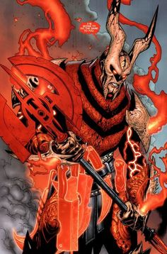 The Butcher / Red Lantern Corps Comic Books Art, Comic Art, Red Lantern Corps, Comics Anime, Arte Dc Comics, Desenho Tattoo, Dc Comics Characters, The Villain, Fantasy