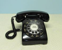 Black Rotary Dial Telephone  Bell System by BusyOnBlackwood