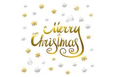 Gold Merry Christmas calligraphy by Rommeo79 on Creative Market