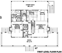 Country Style House Plans - 2200 Square Foot Home , 2 Story, 3 Bedroom and 2 Bath, 0 Garage Stalls by Monster House Plans - Plan 6-316