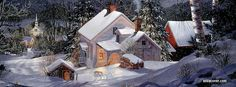 Christmas In The Village Facebook Timeline Photos, Fb Covers, Country Christmas, Winter Scenes, Gallery, Butterflies, Outdoor, Reading, Books