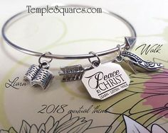 YW 2018 Peace In Christ Charm Bracelets Young Women Theme LDS