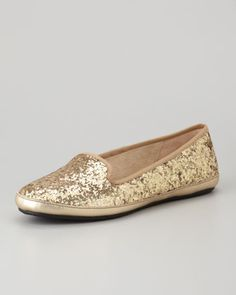 Asher+Shearling-Lined+Glitter+Loafer,+Champagne+by+UGG+Australia+at+Neiman+Marcus.