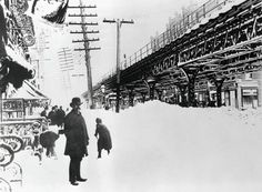 The Great Blizzard of 1888 was one of the most severe recorded blizzards in the history of the United States. Snowfalls of 20–60 inches fell in parts of New Jersey, New York, Massachusetts, and Connecticut, and sustained winds of more than 45 miles per hour produced snowdrifts in excess of 50 feet.