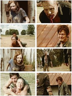 Sophia and Merle's Death- Daryl and Carol losing the only people they cared for. The Walking Dead