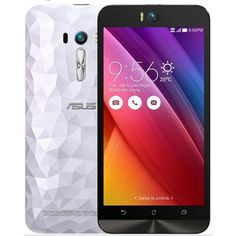 ASUS Zenfone Selfie (Dual SIM ZD551KL 16GB with Crystal Back) White - Front and Back view