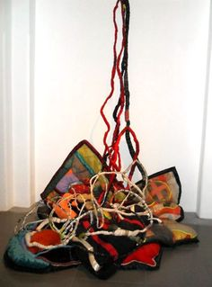 Margaret Whyte- recycling fabric for her installations