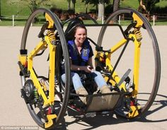 Does she look like she's having fun?   EDWARD, developed at U of Adelaide in AUS. 40kmh for 1 hour of aggressive driving.