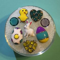 Easter Floating Charms Set - Authentic Origami Owl Stones