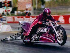 Elmer Trett, gods of thunder, 5's & 240's in 1/4 30 + years ago Harley Davidson Custom Bike, Nhra Drag Racing, Drag Bike, Top Fuel, Racing Motorcycles, Drag Cars, Racing Team, Custom Bikes, Cool Bikes