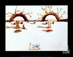 Patient Lovers Art Print by Salvador Dalí at Art.com