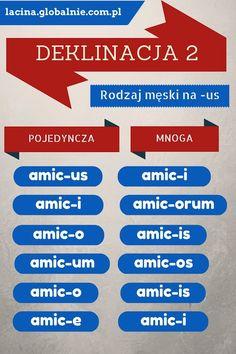 Łacina deklinacja 2. Odmiana rzeczownika - Łacina globalnie