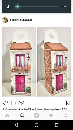 Ahşap poşetlik ler Decopage Furniture, Wood Crafts, Diy And Crafts, Arte Country, House Made, Tissue Boxes, Painting On Wood, Kids Bedroom, Home Art