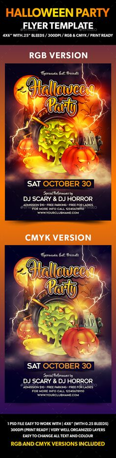 Halloween Party Flyer | Halloween Party Flyer, Party Flyer And