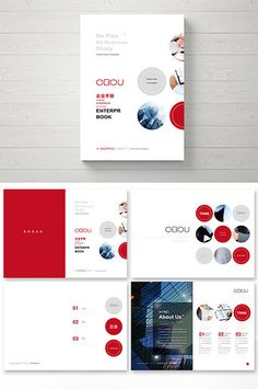 Fashion red high-end business Brochure Book Cover Design, Book Design, Album Design, Business Brochure, Corporate Brochure, Corporate Design, Print Layout, Layout Design, Design Brochure