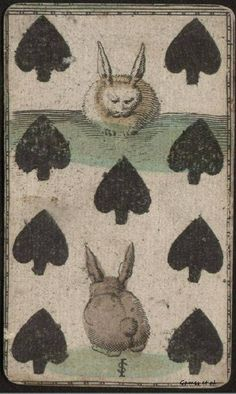 Alice in Wonderland, The White Rabbit Tarot Cards, Vintage Playing Cards, Drawings, Illustration Art, Rabbit Art, Art, Bunny Art, Card Art, Alice In Wonderland