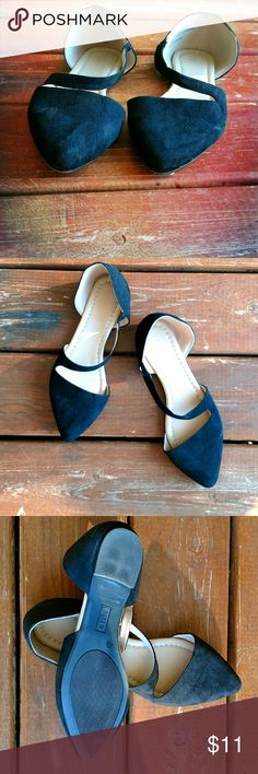 Cato Pointy Dress Flats Size 11 Cato flats, never worn. Black, soft to the touch, and comfortable. A small elastic area on the strap provides a little give if needed.  ??? Smoke-free home. Use the offer button or bundle feature to your advantage! ??? Cato Shoes Flats & Loafers