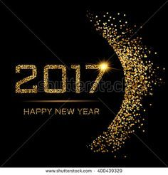 Happy New Year gold