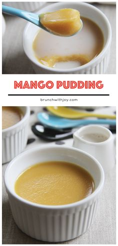 Hong Kong Style Mango Pudding #SundaySupper - Brunch-n-Bites