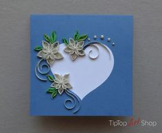 Quilled Wedding paper handmade greeting card by TipTopArtShop, $10.50