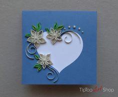 Quilled Wedding paper handmade greeting card by TipTopArtShop, $10.50