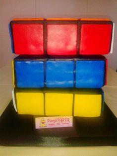 Tarta cubo rubik