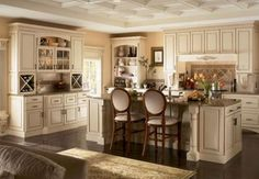 10 Incredible Kitchen Islands With Seating: Kitchen Islands With Seating:  French Country Kitchen Seating