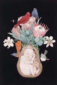 would love the print Family Illustration, Art Et Illustration, Madona, Image Pinterest, Birth Art, Page Borders Design, Pregnancy Art, Brain Art, Family Drawing