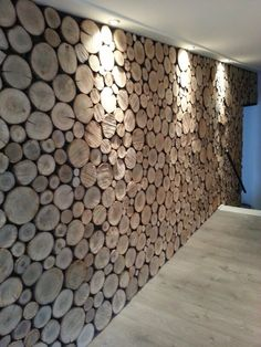 Wood wall Wooden Wall Design, Wall Decor Design, Wood Wall Decor, Wooden Walls, Wood Wall Art, Wood Slice Crafts, Deco Restaurant, Repurposed Wood, Wooden Projects