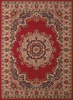 United Weavers of America Dallas Floral Kirman Red Area Rug